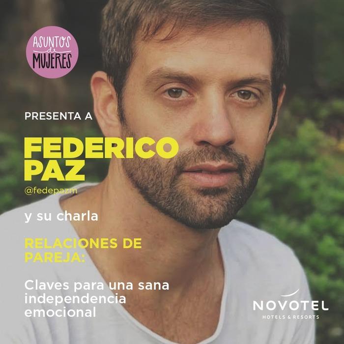Federico Paz y Asuntos de Mujeres juntos en una charla sobre relaciones de pareja