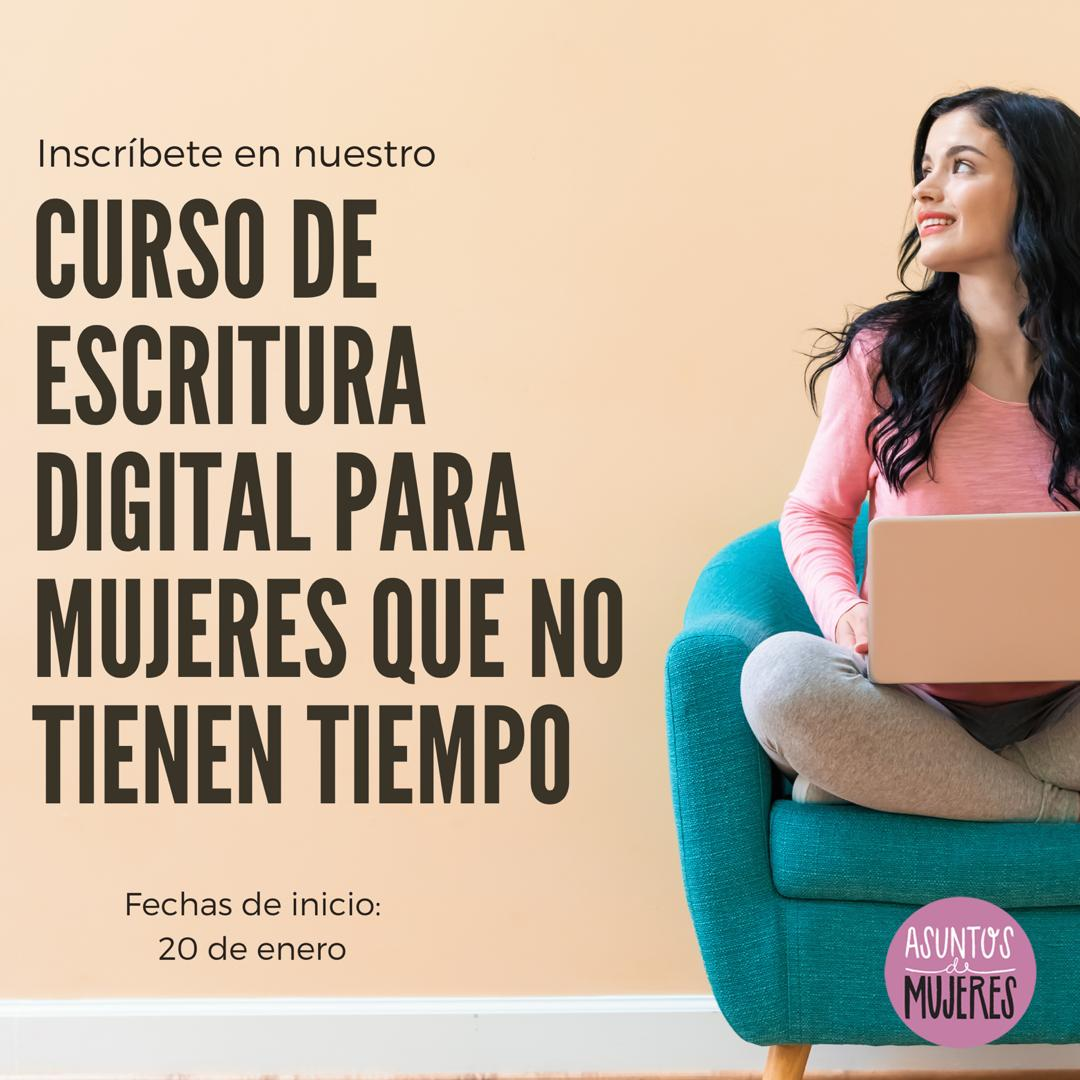 Curso de escritura digital de asuntos de mujeres