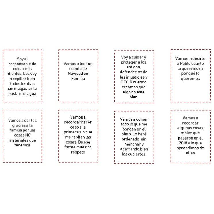 Propósitos del calendario de adviento